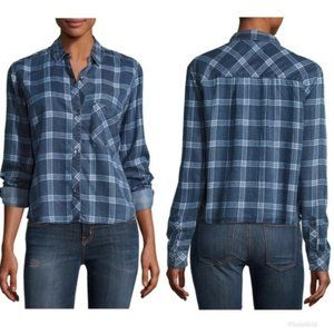 Rails Midnight Grid Button Down Chambray T…